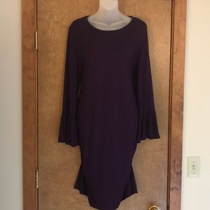 NWT ONLY ONE!!! Pretty purple maternity dress
